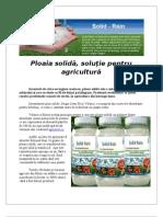 Ploaia solidă, soluție pentru agricultură