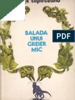 42160352 Balada Unui Greier Mic de George Topirceanu