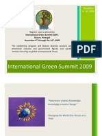 International Green Summit Sponsorship Packages