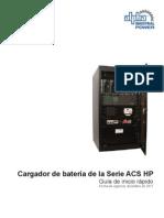 Cargador de batería de la Serie ACS HP Guia  Nov 2011