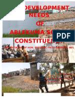EPHRAIM NII TAN SACKEY' RESEARCH ON THE DEVELOPMENT NEEDS OF ABLEKUMA SOUTH CONSTITUENCY