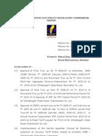 Tariff order 2013-14