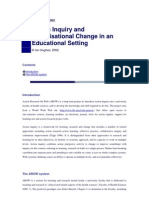 Action inquiry and organisational change in an educational setting