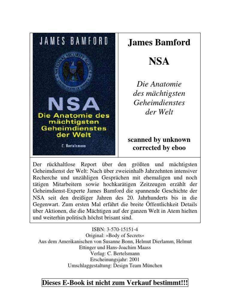 James Bamford-NSA. Die Anatomie des mächtigsten Geheimdienstes der ...