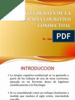 Antecedentes de La Terapia Cognitivo Conductual