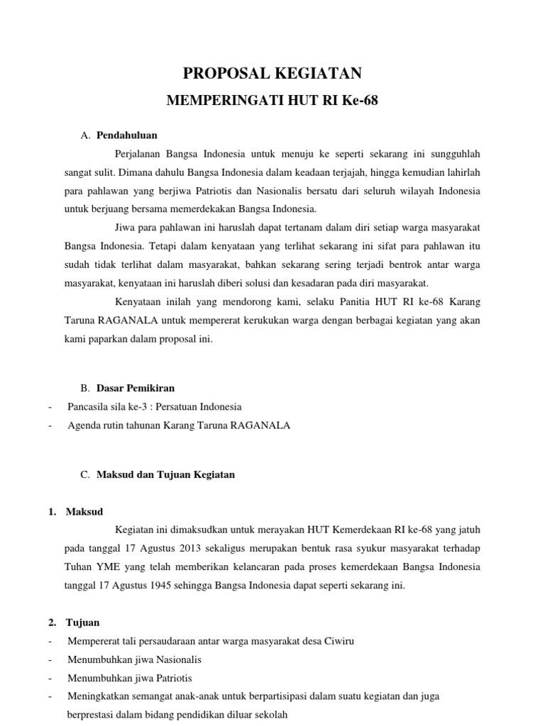 Proposal Hut Ri 17 Agustus 2021