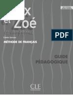 ALEX ET ZOE Guide Pedagogique