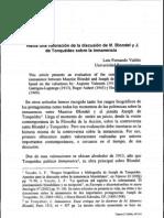 LF Valdes_Valoración discusión Blondel-Tonquédec sobre inmanencia