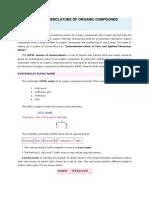 Nomenclature and Isomerism