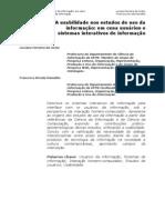 CI Usabilidade Sistemas Interativos