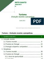 Turismo - Evolução recente e perspectivas  Junho 2013