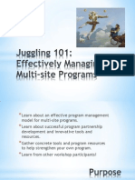 SW 2013 Juggling 101 Effective Managing Multi Site Programs