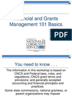 SW 2013 Financial and Grant Management 101 Basics