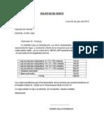 MODELO DE SOLICTUD