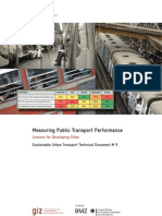 Measuring Public Transport Performance