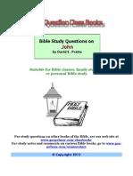 David E. Pratte - Bible Study Questions on John