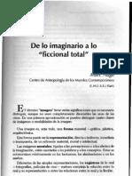 De Lo Imaginario a Lo Ficcional Total Marc Auge