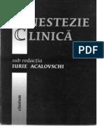 Anestezie Clinica (Acalovschi)