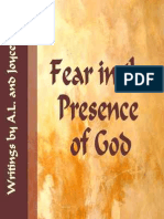 Fear in the Presence of God