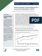 Center For Disease Control (CDC) Data Brief