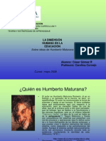 La Dimension Humana en La Educacion Maturana