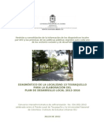 Diagnostico Localidad Teusaquillo 2012-Plan Desarrollo Teusaquillo 2013 2016