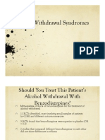Alcohol Withdrawal Syndromes Presentation USC