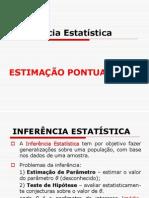 3.1 AULA INFERÊNCIA - ESTIMAÇÃO  PONTUAL