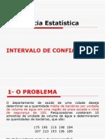 3.2 AULA INFERÊNCIA -INTERVALO DE CONFIANÇA