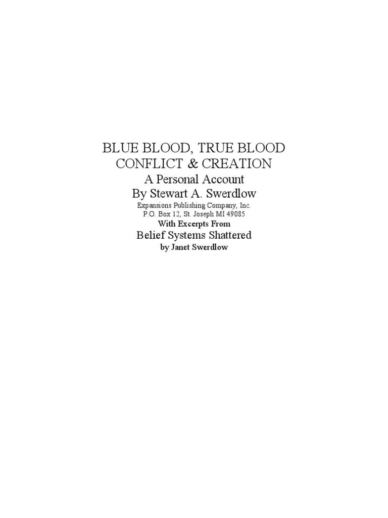 blue blood true blood conflict & creation pdf