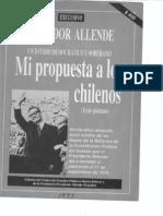 ALLENDE (S.) Propuesta (1973) de Constitución a los chilenos