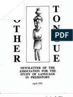 Mother Tongue Newsletter 16 (April 1992)