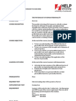 MAC 611 Human Personality Course Outline