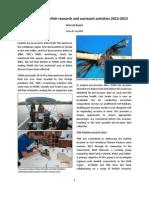 TIDE Lionfish 2013 Lobsterfest Report, James Foley, July 2013