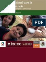 Acuerdo Nacional Salud Alimentaria Mexico 2010