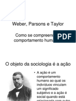 Semana 2 - Weber, Taylor e Parsons