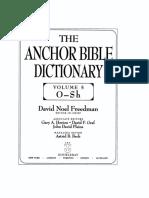 Sacrifice (OT) in Anchor Bible Dictionary
