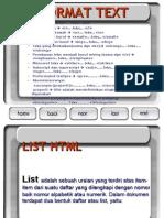 format text list dan link