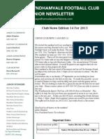 2013 Newsletters Week14