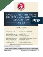 Aace Comprehensive Diabetes Management Algorithm 2013