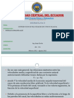 Distribucion de Velocidades en Cursos de Agua Integrantes Tarapues, Lara, Andino, Moro, Usama - Copia
