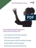BTproductmasterdatamanagementusingoraclepimdh