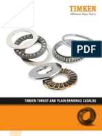 Timken Thrust and Plain Bearings Catalog