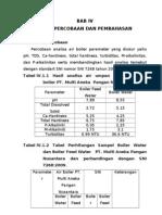 bab IV analisa boiler