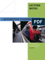 Automotive Transmission -Lecture Notes Complete