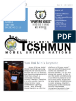 TCSHMUN 2013 NewsLetter