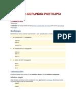 INFINITIVO-GERUNDIO-PARTICIPIO
