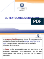 16_EL TEXTO ARGUMENTATIVO.ppt