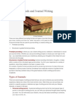 Types of Journals and Journal Writing