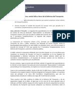 Corte Superior de Lima emitió fallo a favor de la Reforma del Transporte - Nota de Prensa - 118